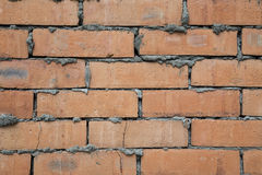 Fond rouge de texture de mur de briques Image stock