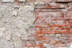 Fond rouge de texture de mur de briques de vintage photo stock