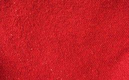 Fond rouge de texture de tissu Image libre de droits