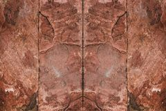 Fond rouge de texture de mur en pierre Photo libre de droits