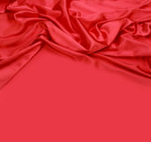 Fond rouge de tissu en soie Photo stock