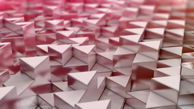 Fond rouge de triangles Photo libre de droits