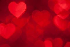 Fond rouge de vacances de forme de coeur image stock