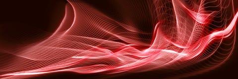 Fond rouge de vague de belle flamme panoramique abstraite avec l'espace pour votre texte ou travail illustration de vecteur