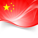Fond rouge de vague de la RPC de vacances nationales Images libres de droits