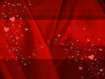 Fond rouge de valentine Illustration Stock