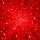 Fond rouge de vecteur d'étoiles Image libre de droits