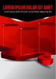 Fond rouge de vecteur d'affaires avec en trois étapes Photographie stock libre de droits
