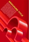 Fond rouge de vecteur pour l'affiche Photos stock