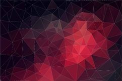 Fond rouge des formes géométriques Rétro triangle Configuration de mosaïque colorée illustration stock
