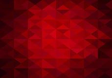 Fond rouge des triangles bas poly Photos libres de droits