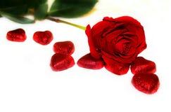 Fond rouge du ` s de Valentine d'amour Image stock