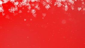Fond rouge en baisse peint de coeurs illustration de vecteur
