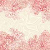 Fond rouge en pastel abstrait Photo libre de droits