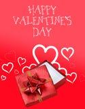 Fond rouge et blanc de jour de valentines Photo stock