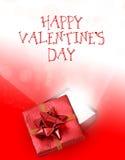 Fond rouge et blanc de jour de valentines Photographie stock libre de droits