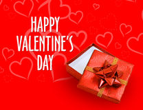 Fond rouge et blanc de jour de valentines Images stock