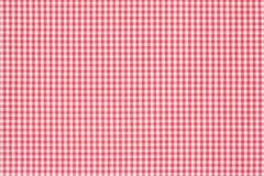 Fond rouge et blanc de nappe Photographie stock