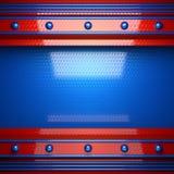 Fond rouge et bleu en métal illustration libre de droits
