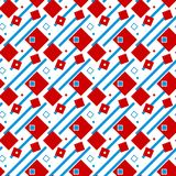 Fond, rouge et bleu géométriques sans couture illustrés sur le blanc Image libre de droits