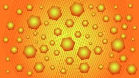 Fond rouge et jaune avec des formes géométriques Image stock