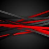 Fond rouge et noir de contraste de technologie de rayures illustration de vecteur