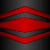 Fond rouge et noir moderne d'entreprise abstrait illustration stock