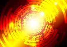 Fond rouge et orange d'abrégé sur technologie Photos libres de droits