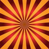 Fond rouge et orange de rayon de soleil Rayons radiaux illustration abstraite de vecteur illustration libre de droits