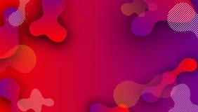 Fond rouge et pourpre avec le modèle abstrait illustration stock