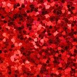 Fond rouge et rose de coeurs Image stock