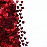 Fond rouge et rose de coeurs Images libres de droits