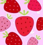 Fond rouge et rose de fraise illustration stock