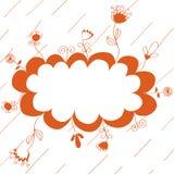 Fond rouge floral Image libre de droits