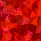Fond rouge géométrique Photographie stock libre de droits