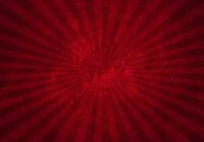 Fond rouge grunge de starburst Photos libres de droits