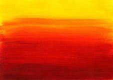 Fond rouge jaune-orange de peinture Image libre de droits