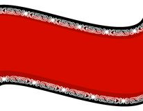 Fond rouge noir d'Artsy Swoosh Images stock