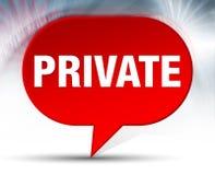 Fond rouge privé de bulle illustration stock