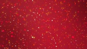 Fond rouge romantique de scintillement avec les particules légères de clignotement illustration libre de droits