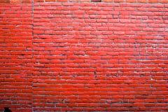 Fond rouge vibrant de mur de briques image libre de droits