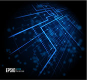 Fond rougeoyant abstrait bleu Photo stock