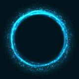 Fond rougeoyant abstrait de cercle Images stock