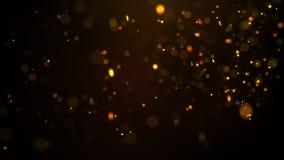 Fond rougeoyant ardent d'abrégé sur particules Photo stock