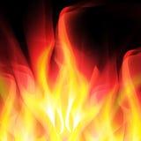 Fond rougeoyant avec le feu lumineux illustration libre de droits
