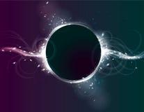 Fond rougeoyant d'effet de la lumière d'éclipse de cercle Photos stock