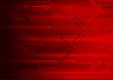 Fond rougeoyant de flèches de technologie rouge foncé Photographie stock libre de droits