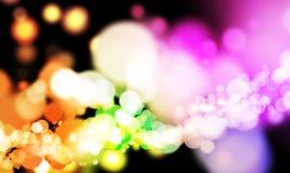 Fond rougeoyant de lumières Photographie stock libre de droits