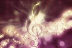 Fond rougeoyant de musique Photo libre de droits