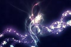 Fond rougeoyant de musique Photo stock